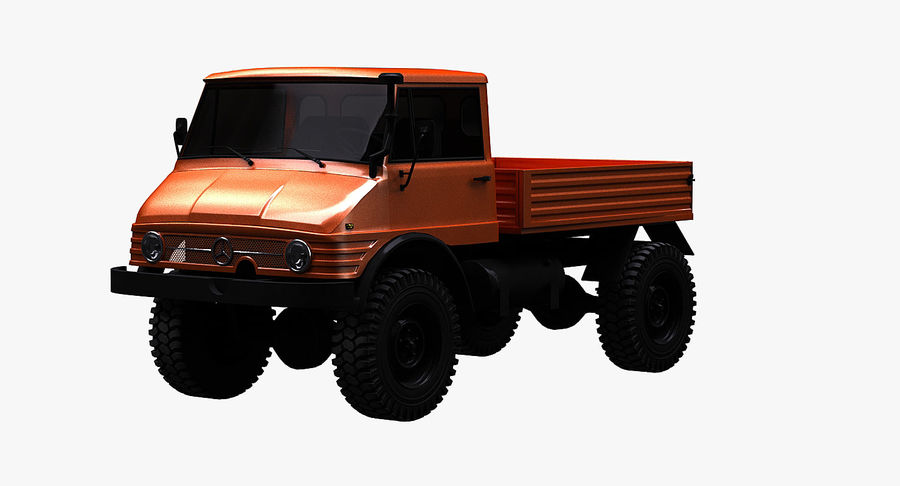 Unimog 406 royalty-free 3d model - Preview no. 2