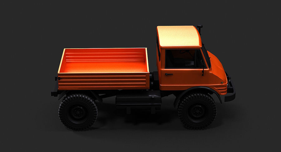 Unimog 406 royalty-free 3d model - Preview no. 8