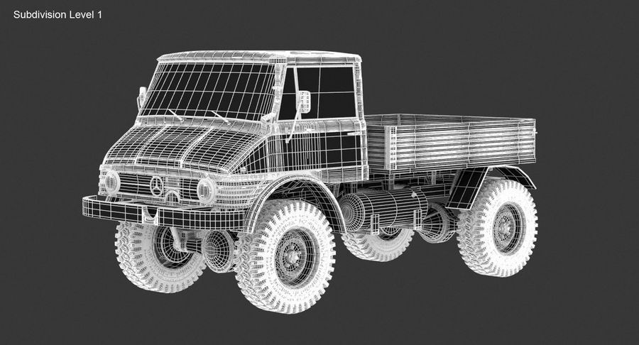 Unimog 406 royalty-free 3d model - Preview no. 16