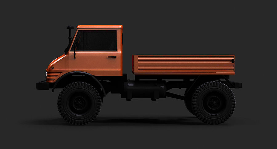 Unimog 406 royalty-free 3d model - Preview no. 5