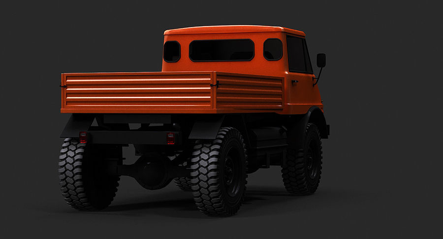 Unimog 406 royalty-free 3d model - Preview no. 7