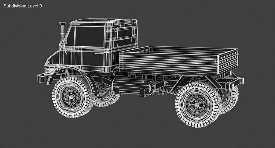Unimog 406 royalty-free 3d model - Preview no. 13
