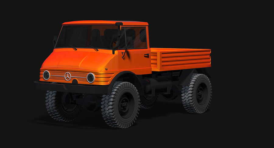 Unimog 406 royalty-free 3d model - Preview no. 4