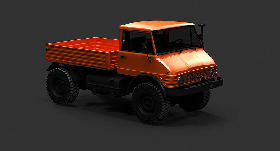 Unimog 406 royalty-free 3d model - Preview no. 9