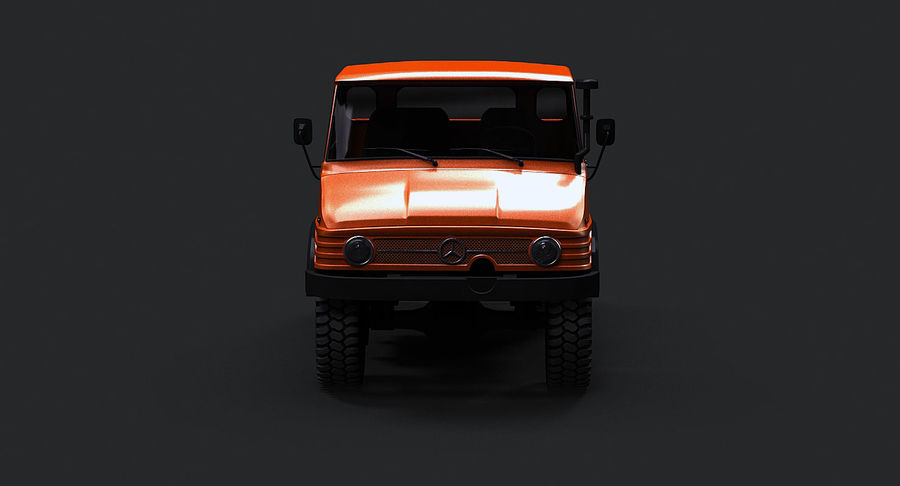 Unimog 406 royalty-free 3d model - Preview no. 10