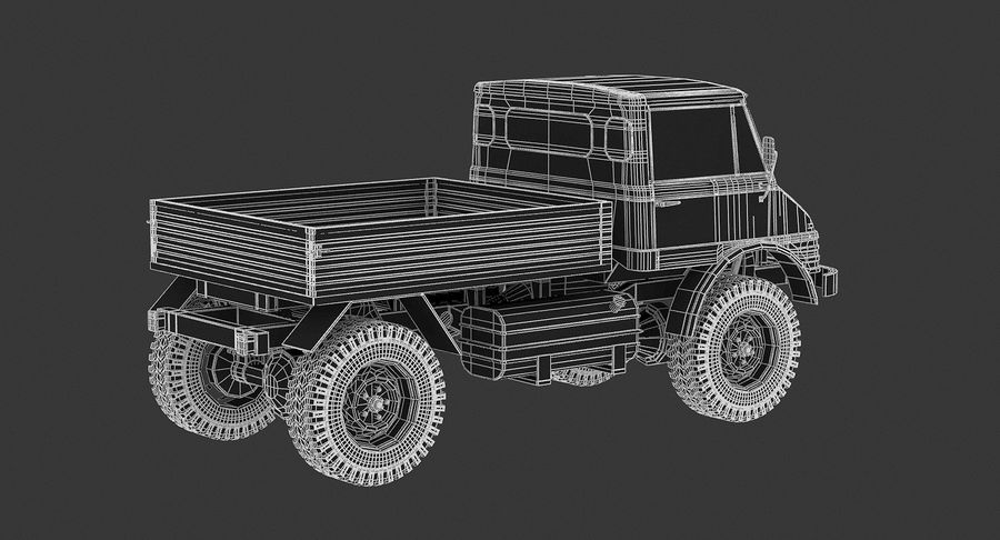 Unimog 406 royalty-free 3d model - Preview no. 12