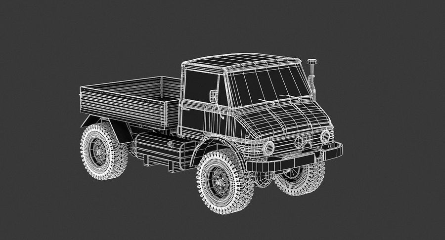 Unimog 406 royalty-free 3d model - Preview no. 11