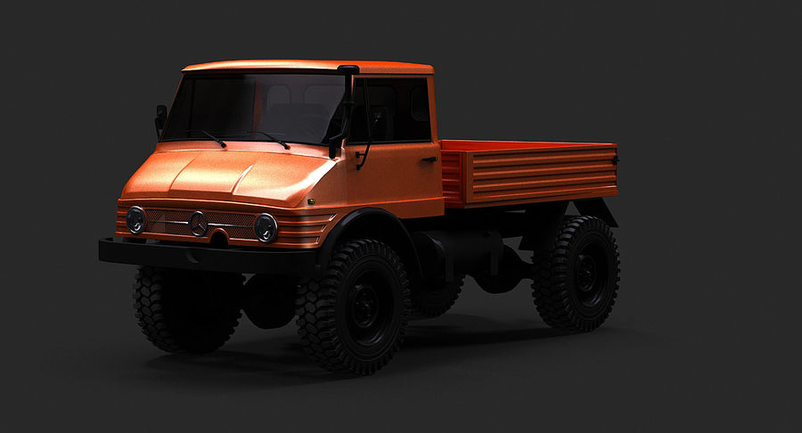 Unimog 406 royalty-free 3d model - Preview no. 3