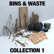 Bins & Waste Collection 1 3d model