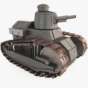 Mały Cartoon Tank 3d model