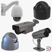 Коллекция камер видеонаблюдения 3d model