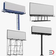 Collezione di cartelloni pubblicitari 3d model