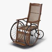 Vintage rolstoel opgetuigd 3d model