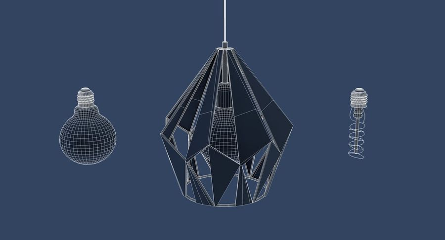 Vintage Lamps Collection royalty-free 3d model - Preview no. 8