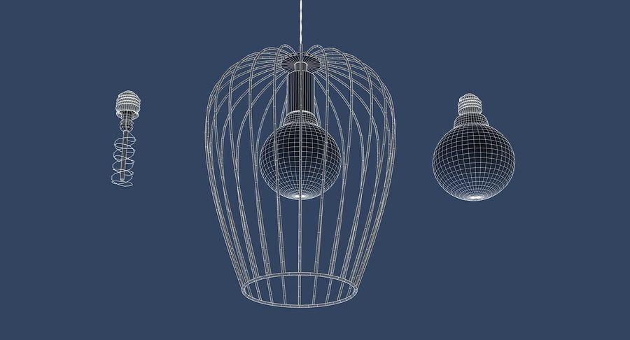Vintage Lamps Collection royalty-free 3d model - Preview no. 23