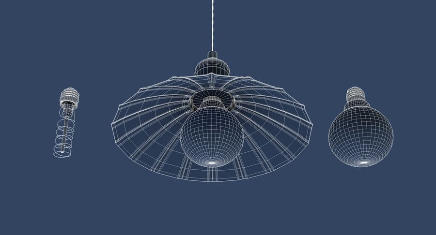 Vintage Lamps Collection royalty-free 3d model - Preview no. 16