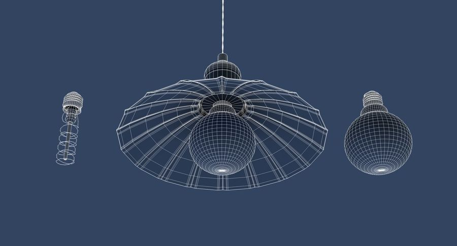 Vintage Lamps Collection royalty-free 3d model - Preview no. 12