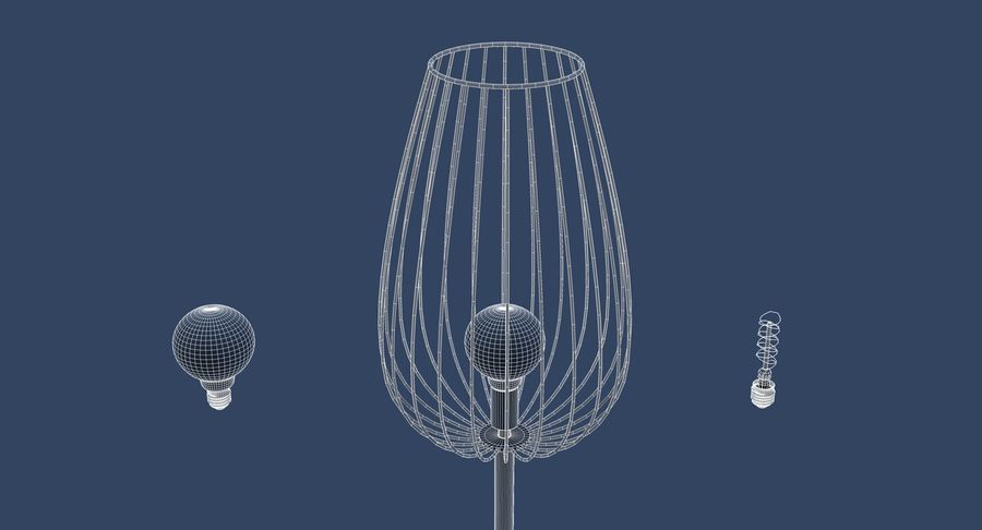 Vintage Lamps Collection royalty-free 3d model - Preview no. 27