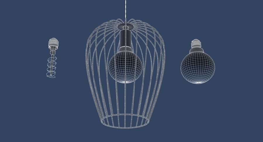 Vintage Lamps Collection royalty-free 3d model - Preview no. 19