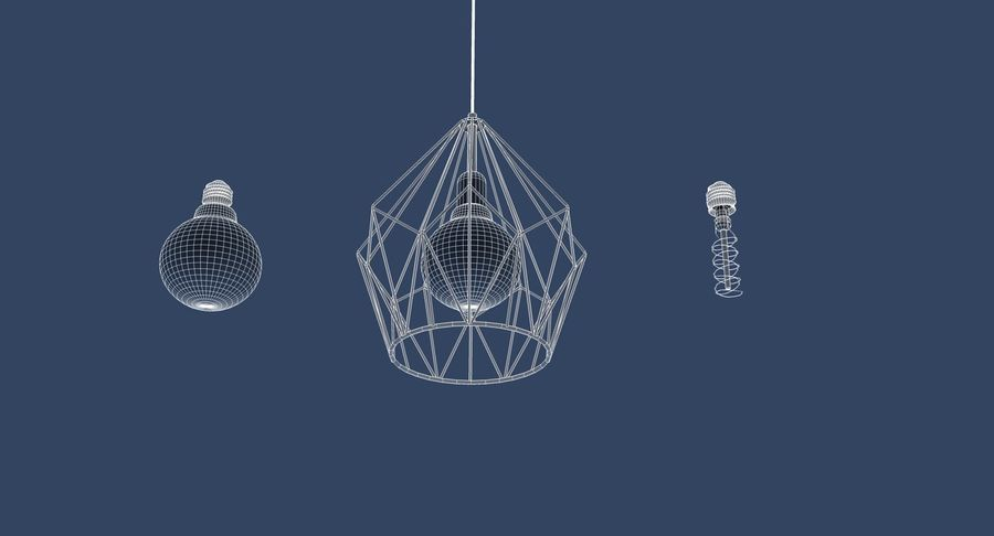 Vintage Lamps Collection royalty-free 3d model - Preview no. 4