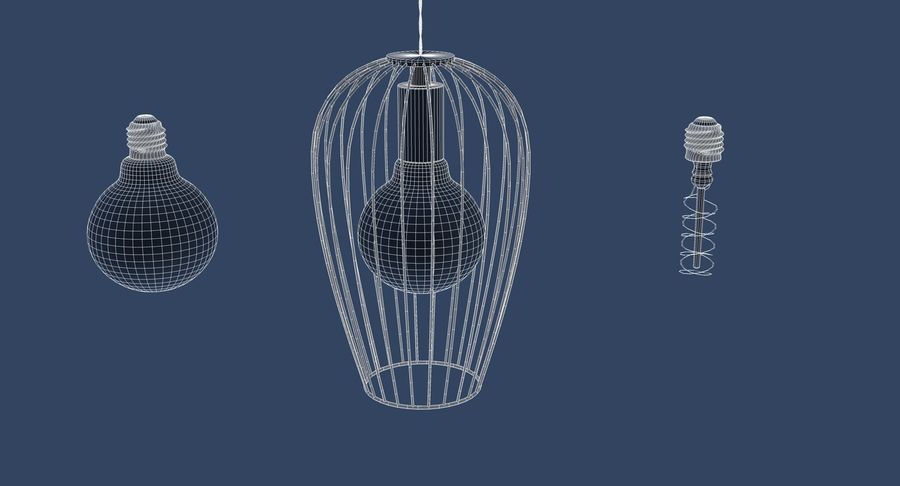 Vintage Lamps Collection royalty-free 3d model - Preview no. 32