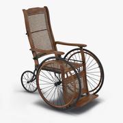 Vintage rolstoel 3d model