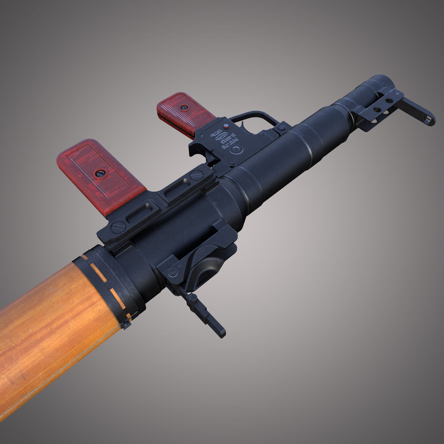 RPG-7 Rocket Launcher royalty-free 3d model - Preview no. 11