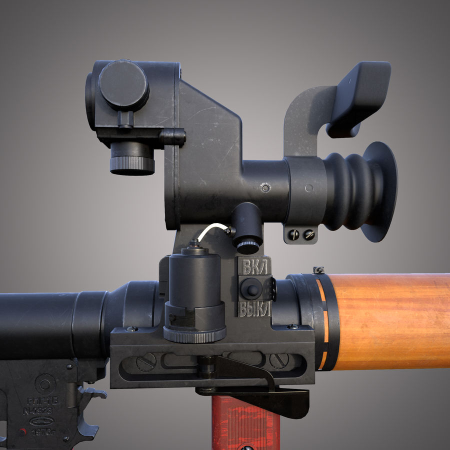RPG-7 Rocket Launcher royalty-free 3d model - Preview no. 20