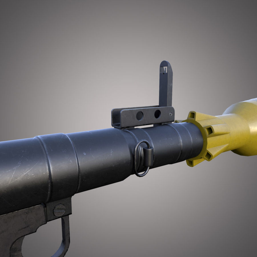 RPG-7 Rocket Launcher royalty-free 3d model - Preview no. 8