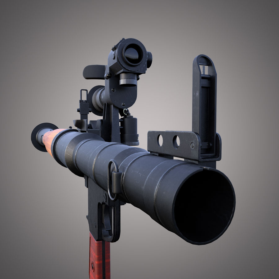 RPG-7 Rocket Launcher royalty-free 3d model - Preview no. 19