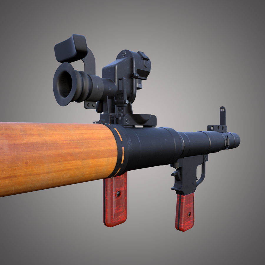 RPG-7 Rocket Launcher royalty-free 3d model - Preview no. 15