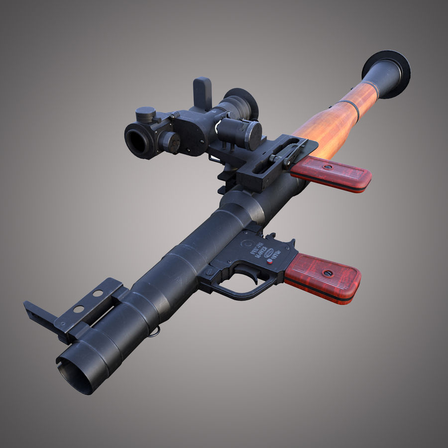 RPG-7 Rocket Launcher royalty-free 3d model - Preview no. 3
