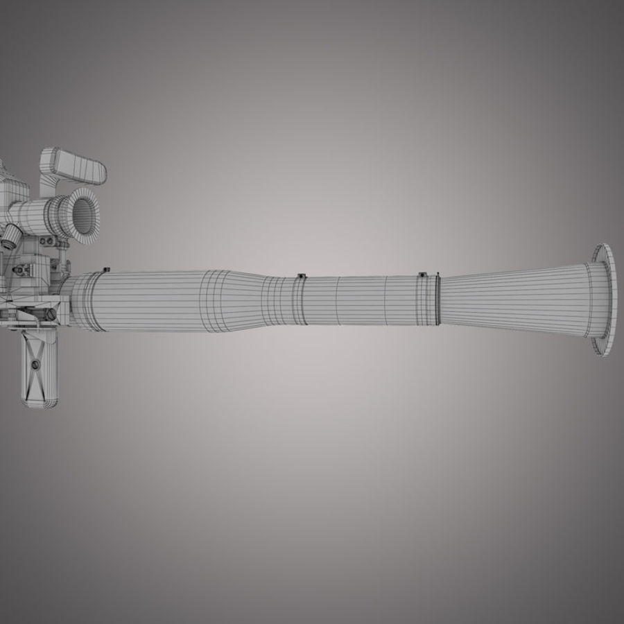 RPG-7 Rocket Launcher royalty-free 3d model - Preview no. 28
