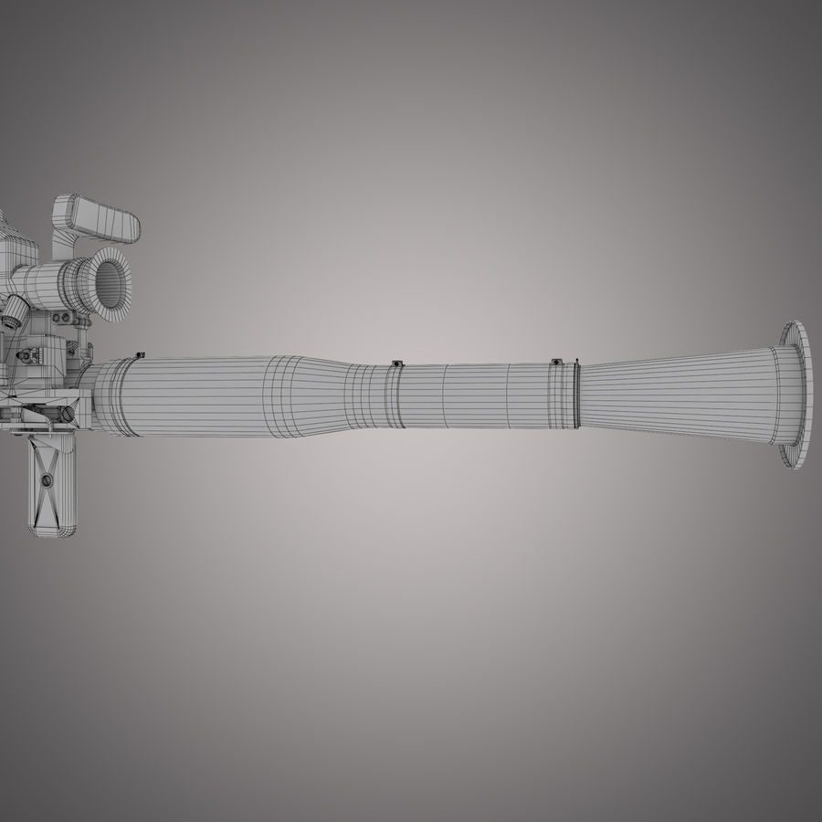 Lanciarazzi RPG-7 royalty-free 3d model - Preview no. 28