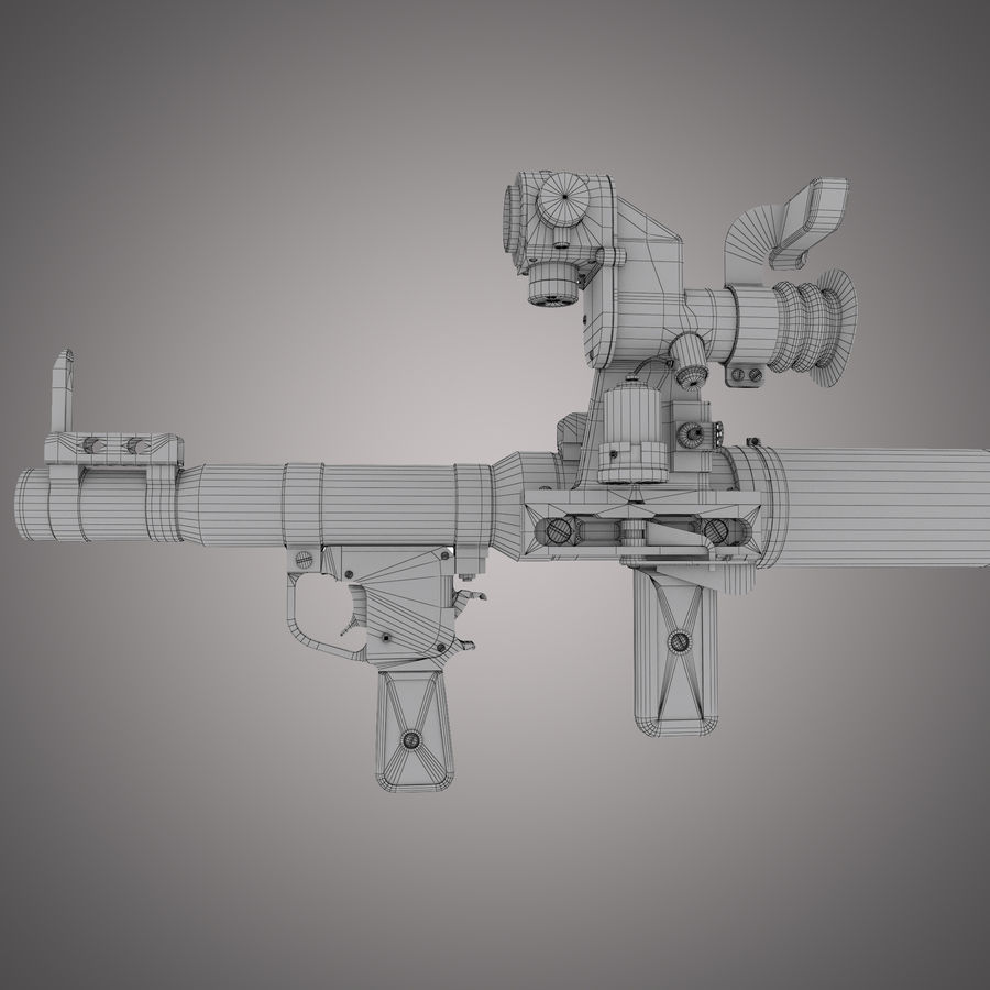 RPG-7 Rocket Launcher royalty-free 3d model - Preview no. 27
