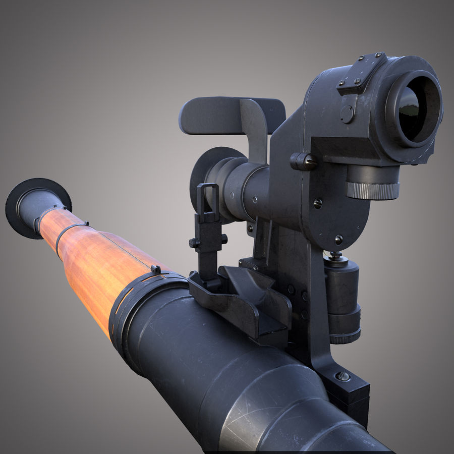 RPG-7 Rocket Launcher royalty-free 3d model - Preview no. 5