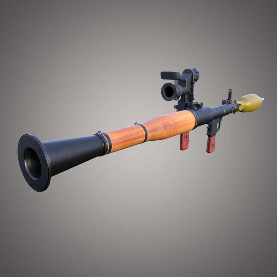 RPG-7 Rocket Launcher royalty-free 3d model - Preview no. 6