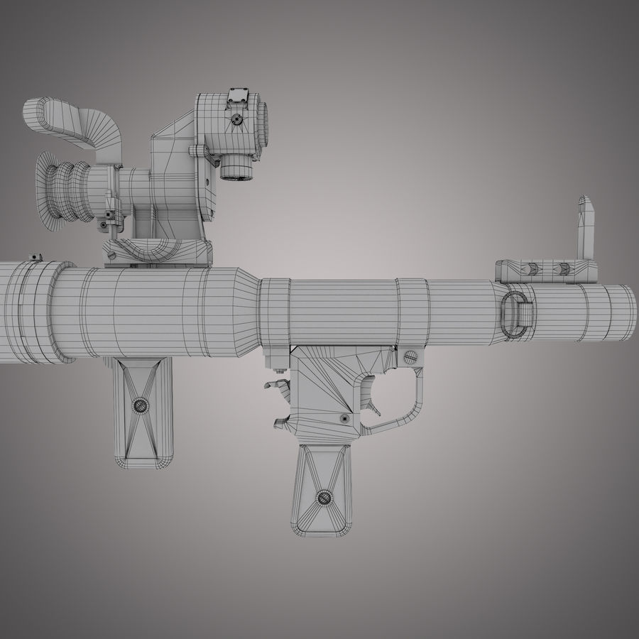RPG-7 Rocket Launcher royalty-free 3d model - Preview no. 29