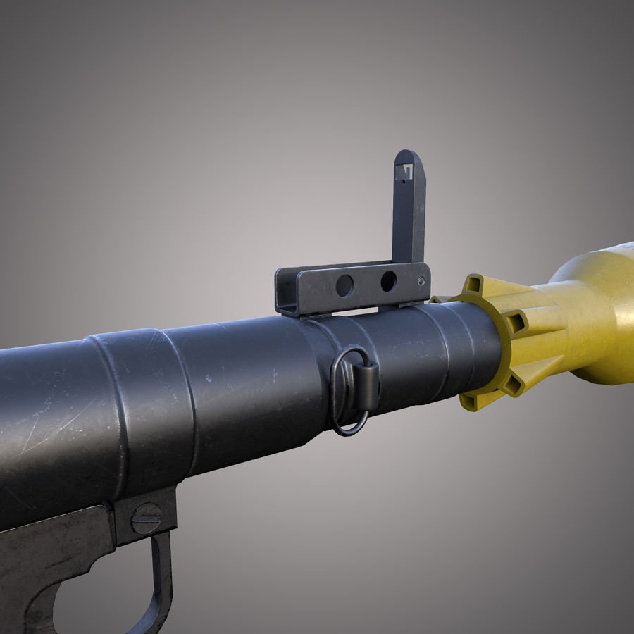 Lanciarazzi RPG-7 royalty-free 3d model - Preview no. 8