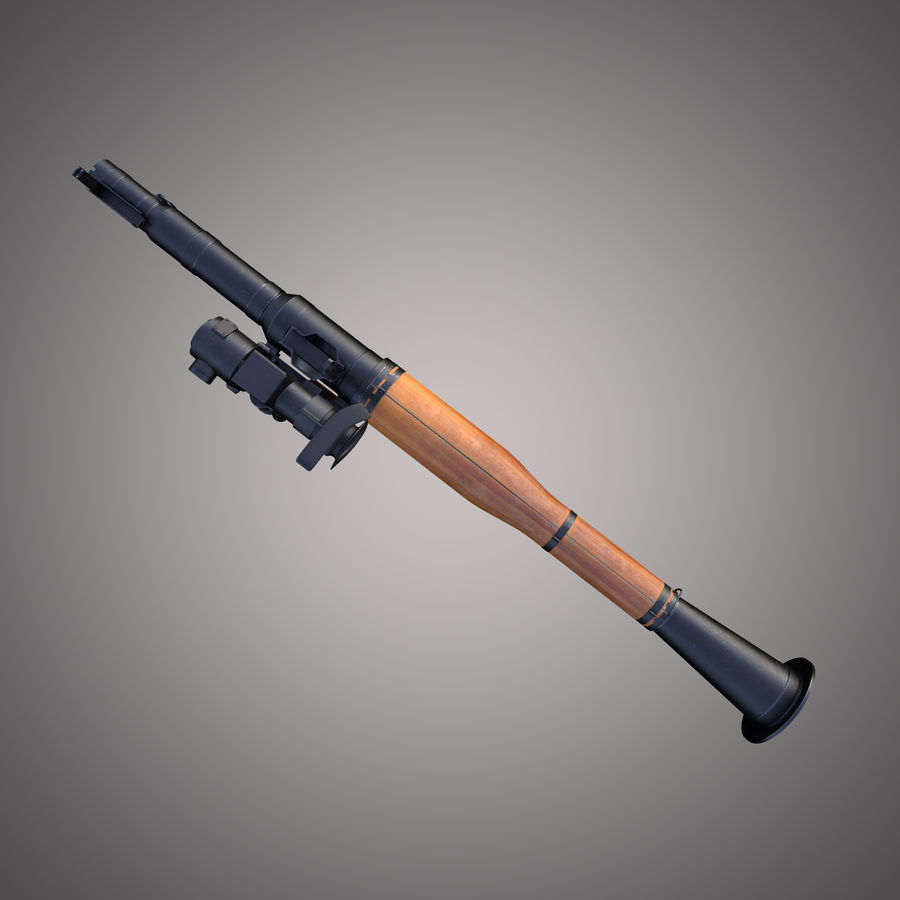 RPG-7 Rocket Launcher royalty-free 3d model - Preview no. 17
