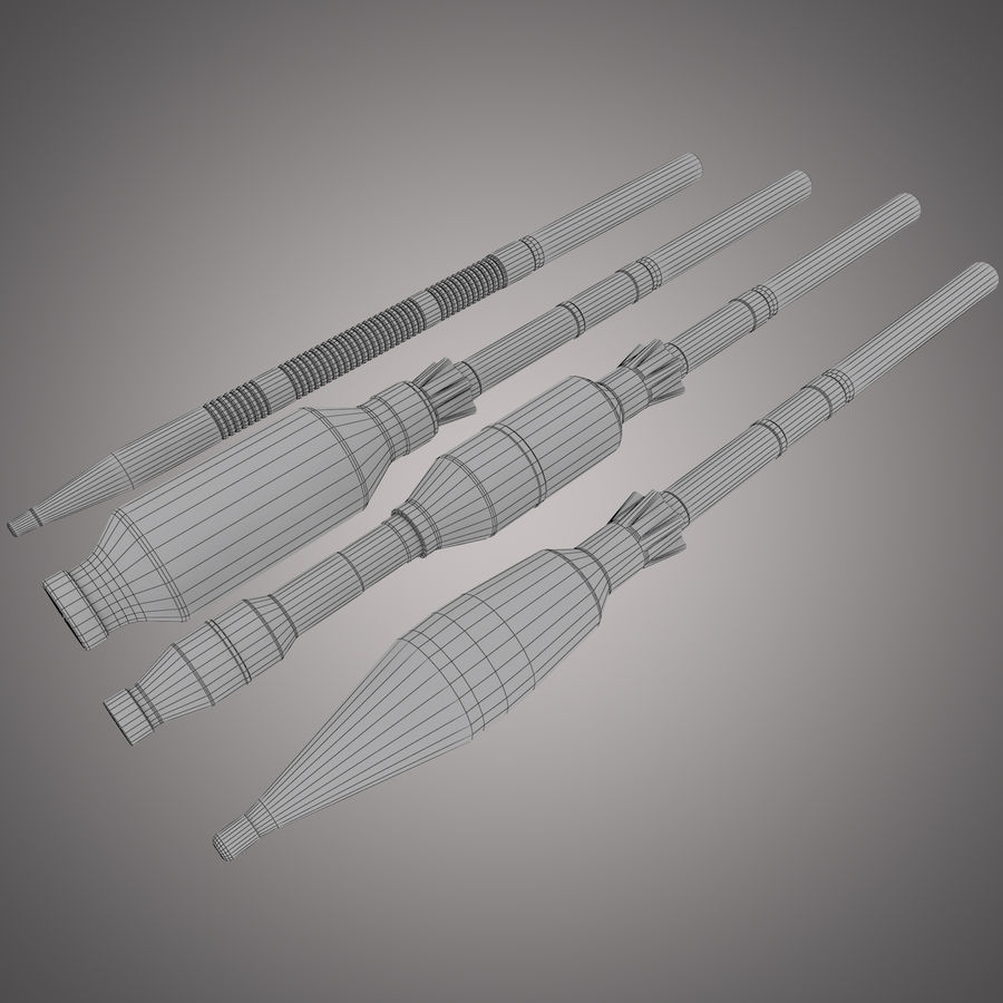 Lanciarazzi RPG-7 royalty-free 3d model - Preview no. 33