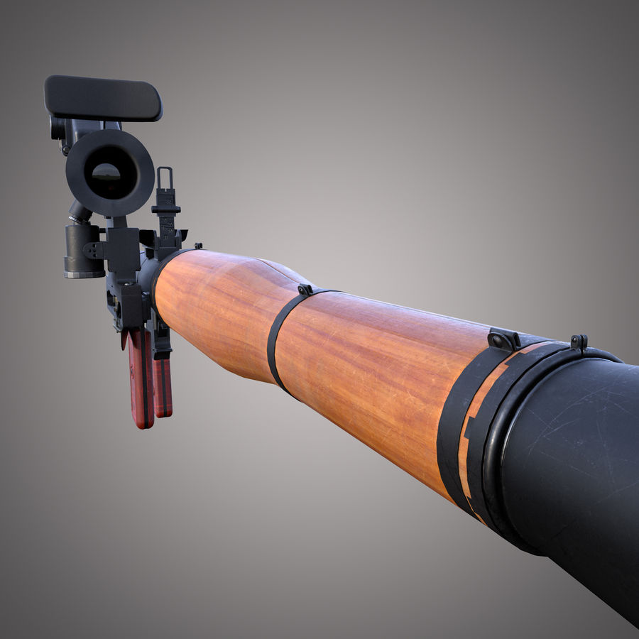 RPG-7 Rocket Launcher royalty-free 3d model - Preview no. 16