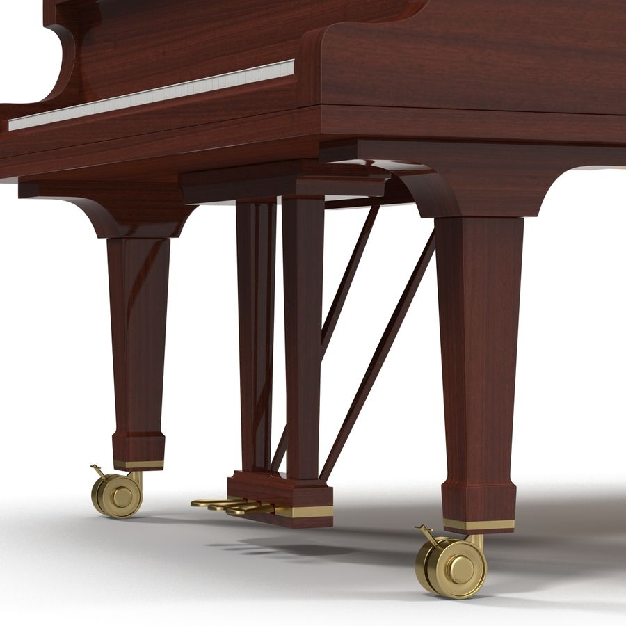 Grand Piano royalty-free 3d model - Preview no. 22