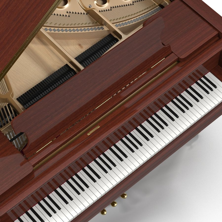 Grand Piano royalty-free 3d model - Preview no. 20