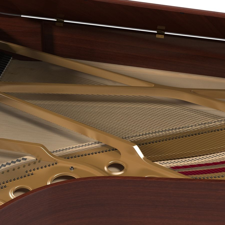 Grand Piano royalty-free 3d model - Preview no. 26