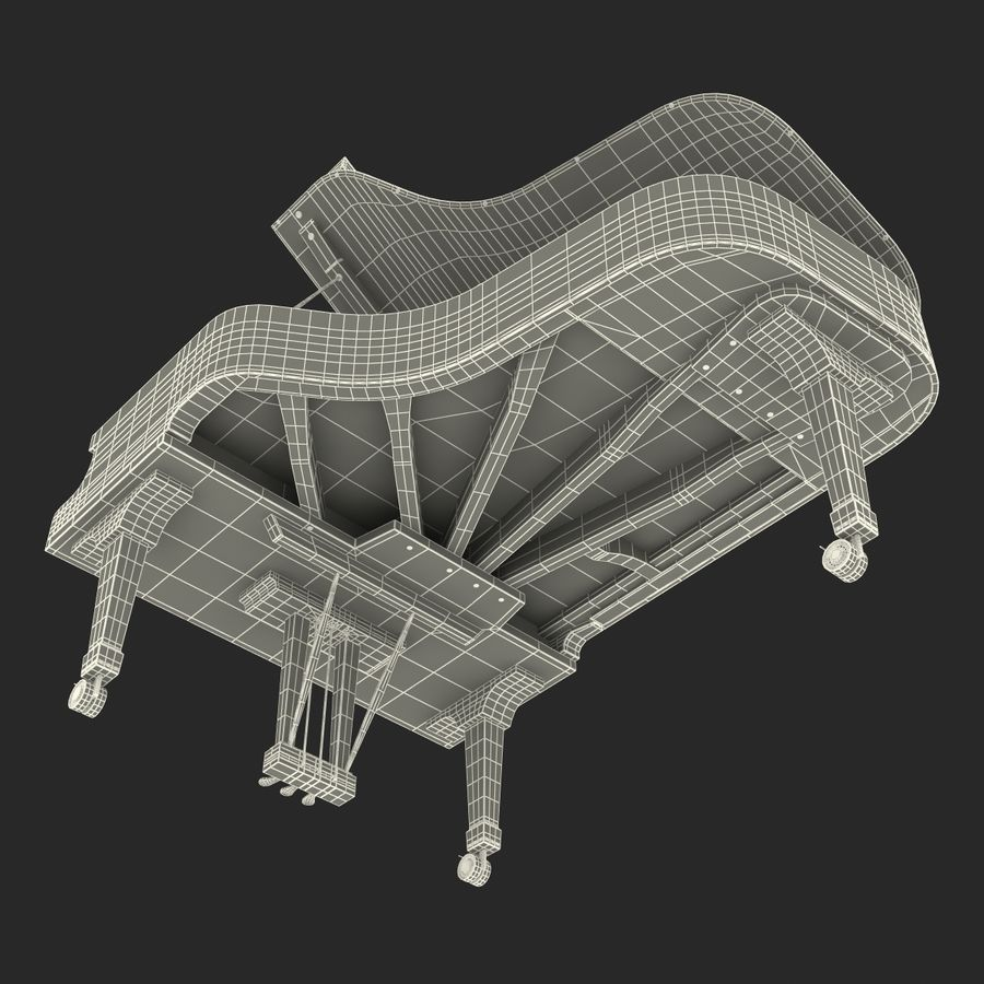 Grand Piano royalty-free 3d model - Preview no. 47