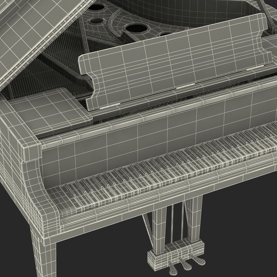 Grand Piano royalty-free 3d model - Preview no. 50