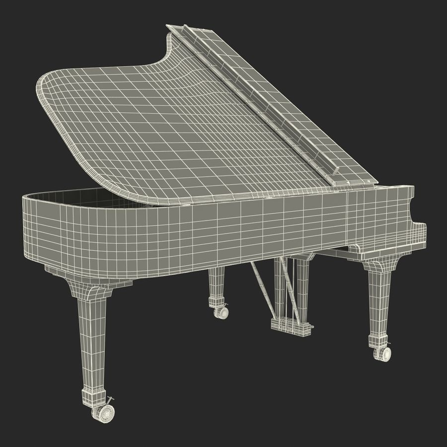 Grand Piano royalty-free 3d model - Preview no. 44