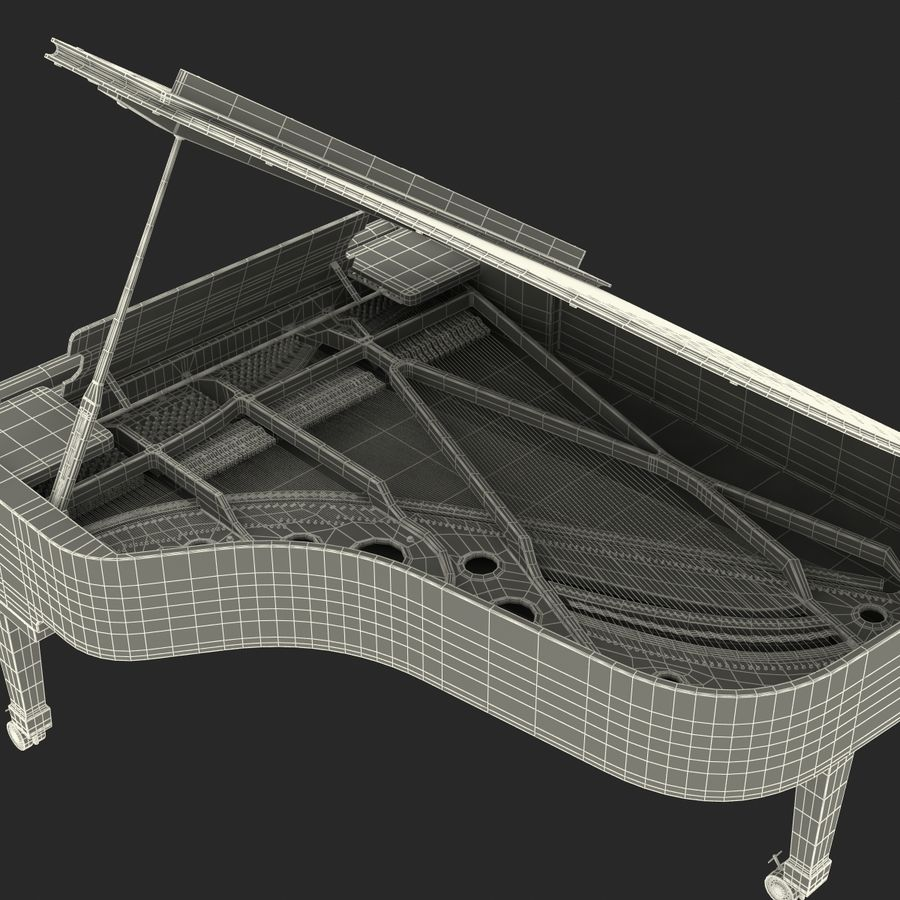 Grand Piano royalty-free 3d model - Preview no. 49