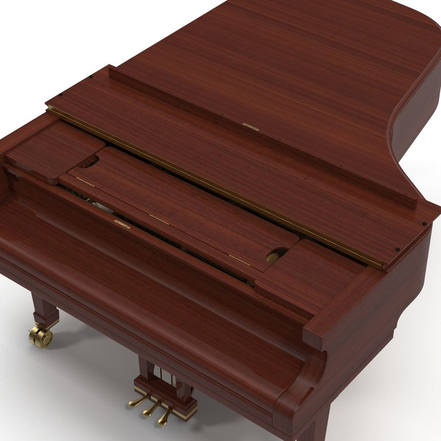Grand Piano royalty-free 3d model - Preview no. 31